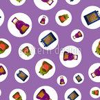 Schultaschen In Blasen Muster Design