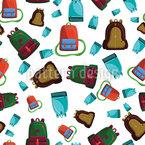 School Bag Chaos Seamless Vector Pattern Design