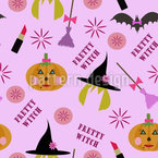 Pretty Witch Vector Pattern