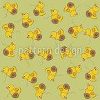 鴨のおもちゃ シームレスなベクトルパターン設計