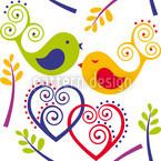 Verliebte Vögel Nahtloses Vektormuster