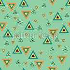 Triángulo Retro Estampado Vectorial Sin Costura