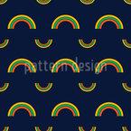 Rainbow Verano Estampado Vectorial Sin Costura