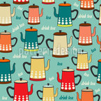 Vintage Kettles Repeating Pattern