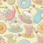 Hens Party Seamless Vector Pattern Design
