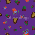 Flying School Bags Seamless Vector Pattern Design