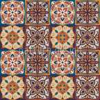 東洋のタイル シームレスなベクトルパターン設計