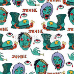 Zombie Seamless Vector Pattern Design