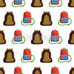 Backpack Zigzag Seamless Vector Pattern Design
