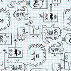 Papermonsters Vector Pattern
