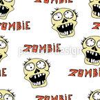 Zombie drôle Motif Vectoriel Sans Couture