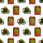 Backpack Land Seamless Vector Pattern Design
