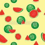 新鲜西瓜 无缝矢量模式设计