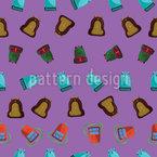 Old School Backpack Seamless Vector Pattern Design