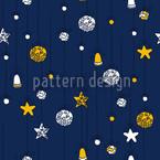 Weihnachtsschmuck Blau Nahtloses Vektormuster