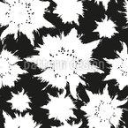 Blumen Schattenbilder Nahtloses Vektormuster