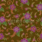 Botanischer Retro Traum Muster Design