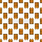 School Bag Square Seamless Vector Pattern Design