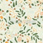 Plantas de outono Design de padrão vetorial sem costura