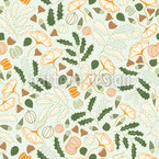 Herbstpflanzen Nahtloses Vektormuster