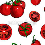 Tomatoe Seamless Vector Pattern Design