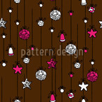 Christmas Tree Decorations Seamless Vector Pattern Design