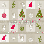 Christmas Dream Sand Seamless Vector Pattern Design