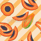 Papaya Party Seamless Vector Pattern Design