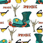 Zombie Boots Seamless Vector Pattern Design