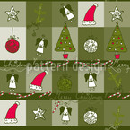 Christmas Dream Green Seamless Vector Pattern Design