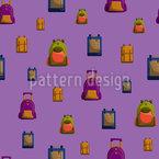 School Bags Seamless Vector Pattern Design