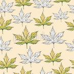 Eiche Blätter Muster Design