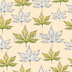 Oak Tree Leaves Seamless Vector Pattern Design
