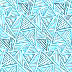 Striped Ice Triangles Vector Ornament