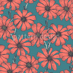 Chamomile Flowers Seamless Vector Pattern Design