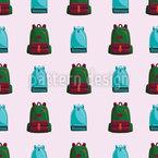 Retro School Bags Seamless Vector Pattern Design