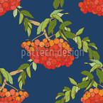 Rowan Blue Seamless Vector Pattern Design