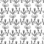 Gravierte Wildblumen Vektor Muster