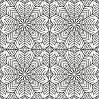 Fan Flower Seamless Vector Pattern Design