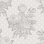 Rose Cavalier Grey Seamless Vector Pattern Design