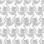 Zarte Waldpflanze Vektor Ornament