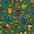 Fall Seamless Vector Pattern Design