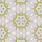 Geometrisches Blüten Mandala Nahtloses Vektormuster