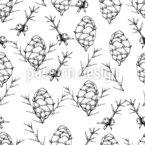 Pflanzen Des Winters Muster Design