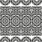 Орнаментальная Бордур Бесшовный дизайн векторных узоров