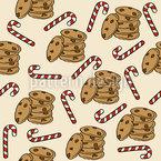 Biscoitos E Bengalas Design de padrão vetorial sem costura