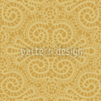 Elegant Lace Pattern in Gold Seamless Vector Pattern Design