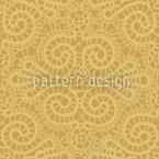 Elegante Spitze in Gold Nahtloses Vektormuster