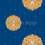 Abstract Christmas Ornaments Pattern Design