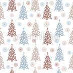 Snowflakes And Christmas Trees Design Pattern